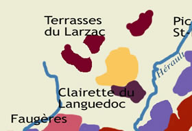 carte des Terrasses du Larzac