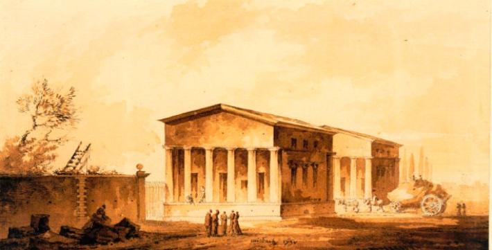 La barrière d'octroi de Bercy construite par Claude -Nicolas Ledoux, entre 1784 et 1790. Elément central du mur des Fermiers Généraux.