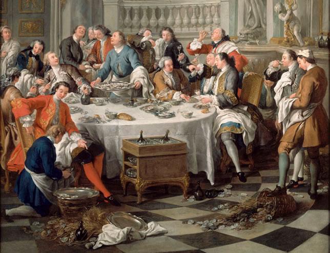 Le Déjeuner d'huîtres par Jean-François de Troy - (Musée de Chantilly)