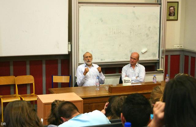 Carlo Petrini et Gilles Fumey à la Sorbonne