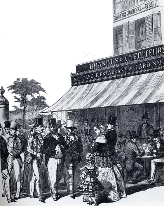Café Cardinal sur les Grands Boulevards dans les années 1840