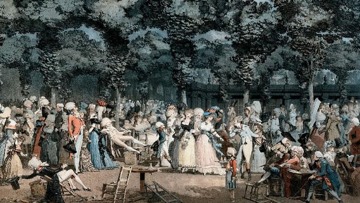 La promenade publique par Philibert Debucourt- 1792. Cincinnati Art Museum