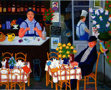 Bistrot. Huile 2000