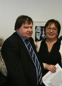 Christian Le Lann, président de la Confédération française de la boucherie charcuterie traiteur (CFBCT) avec martine Pinvile