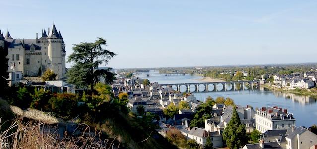 La Loire vue du Château de Saumur