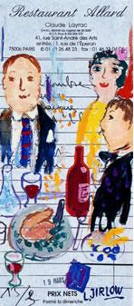 Il arrive parfois à Lennart Jirlow d'esquisser ses impressions de repas sur la note même du restaurant. Bel effet.