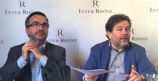 Arnaud Pignol directeur d'inter-Rhône et Michel Chapoutier, président
