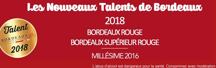 Les 12 Nouveaux Talents de Bordeaux 2018