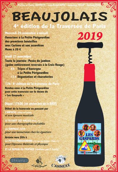 Beaujolais Nouveau 2019 : Une Traversée De Paris Sur Le