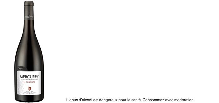 Mercurey 2018, « Le Printemps » Domaine Levert-Barault