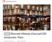 Des grands restaurants en quête de Gens de Confiance